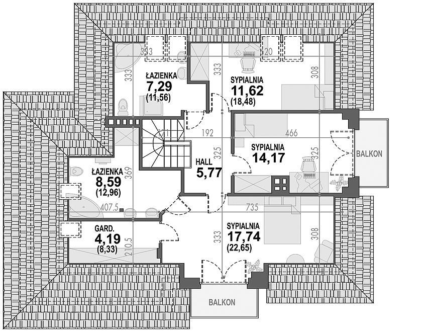 Projekt Domu Opałek Ii N 2g 14175 M2