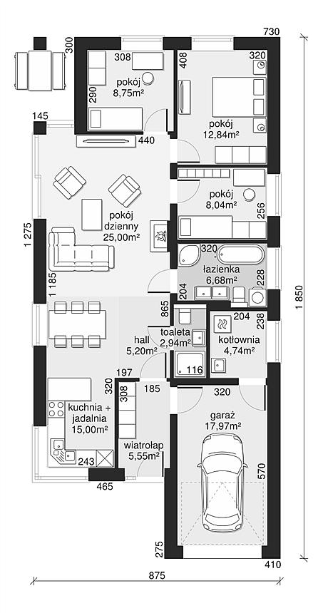 Projekt Domu Dom Przy Pastelowej 16 D 90 M2